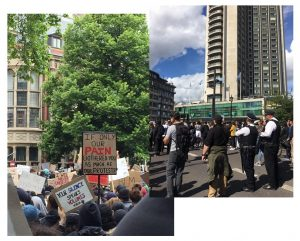 BLM london protest
